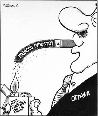 Steve Nease Editorial Cartoons: Anti-Smoking Bill