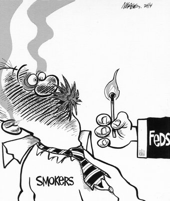 Steve Nease Editorial Cartoons: Federal Smoking Policy