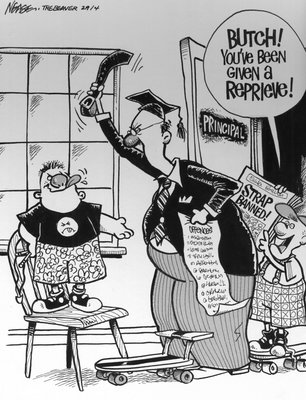 Steve Nease Editorial Cartoons: Strap Banned!