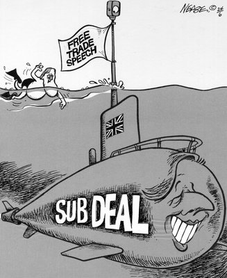 Steve Nease Editorial Cartoons: Submarine Acquisition Project