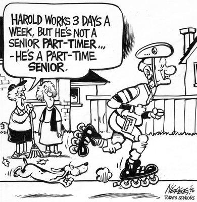 Steve Nease Editorial Cartoons: He's a Part-time Senior!