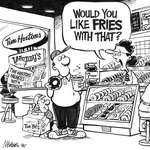 Steve Nease Editorial Cartoons: Fries with That?