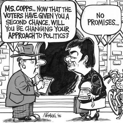 Steve Nease Editorial Cartoons: Sheila Copp's Approach to Politics