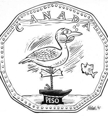 Steve Nease Editorial Cartoons: Pesos vs The Loonie