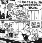 Steve Nease Editorial Cartoons: Cracking Down on Bikers