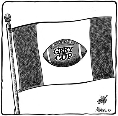 Steve Nease Editorial Cartoons: Grey Cup