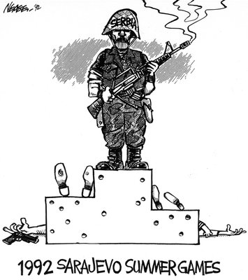 Steve Nease Editorial Cartoons: Sarajevo Summer Games