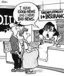 Steve Nease Editorial Cartoons: Good & Bad Unemployment News