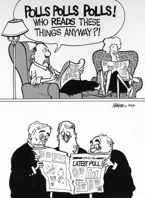 Steve Nease Editorial Cartoons: Polls Polls Polls !