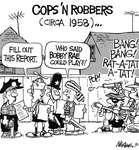 Steve Nease Editorial Cartoons: Cops n' Robbers (c. 1958)
