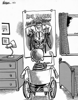 Steve Nease Editorial Cartoons: Rick Hanson the Hero