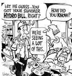 Steve Nease Editorial Cartoons: Summer Hydro Bill