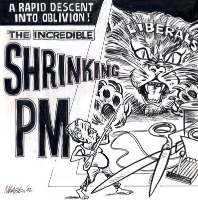 Steve Nease Editorial Cartoons: Shrinking PM