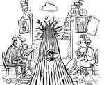 Steve Nease Editorial Cartoons: Tree in the Living Room