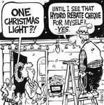Steve Nease Editorial Cartoons: One Christmas Light?
