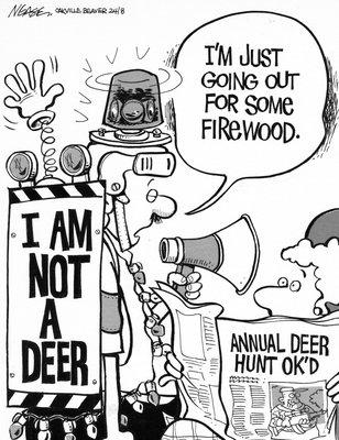 Steve Nease Editorial Cartoons: Annual Deer Hunt Ok'd