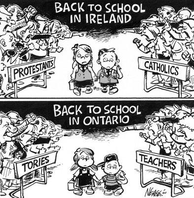 Steve Nease Editorial Cartoons: Back to School in Ontario