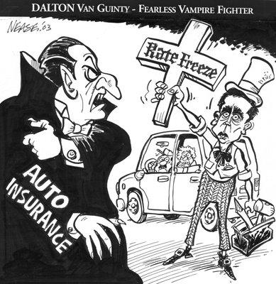 Steve Nease Editorial Cartoons: Dalton Van Guinty  - Vampire Hunter