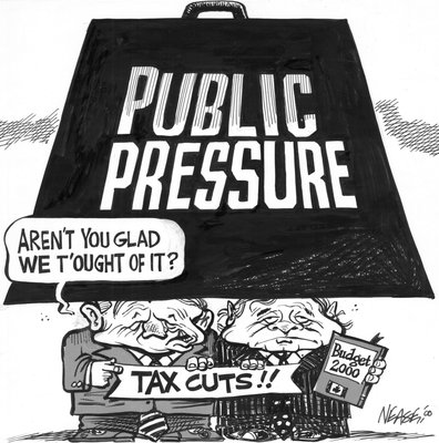 Steve Nease Editorial Cartoons: Public Pressure