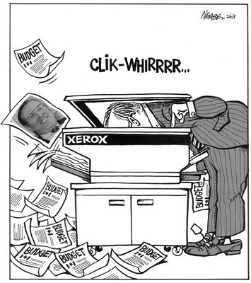 Steve Nease Editorial Cartoons: Xeroxing the Budget