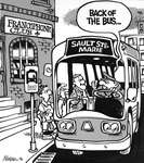 Steve Nease Editorial Cartoons: Back of the bus!