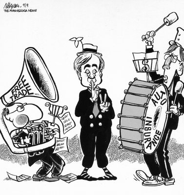 Steve Nease Editorial Cartoons: Free Trade Noise