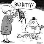 Steve Nease Editorial Cartoons: Bad Kitty!