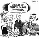 Steve Nease Editorial Cartoons: Suing for Pain & Suffering