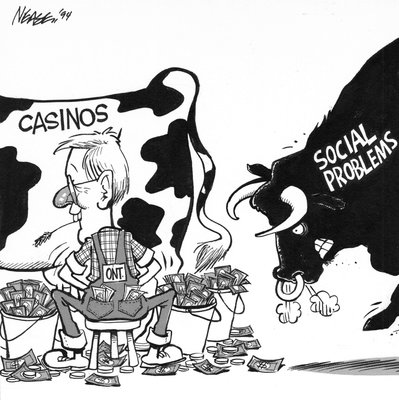 Steve Nease Editorial Cartoons: Casinos or Social Problems?