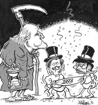 Steve Nease Editorial Cartoons: New Years 1993