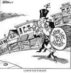 Steve Nease Editorial Cartoons: Labour Day Parade