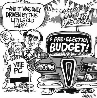 Steve Nease Editorial Cartoons: Mad Maz's Pre-Election Budget