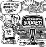 Steve Nease Editorial Cartoons: Mad Maz's Pre-Election Budget