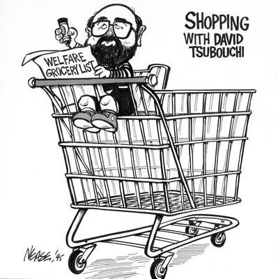 Steve Nease Editorial Cartoons: Welfare Grocery List