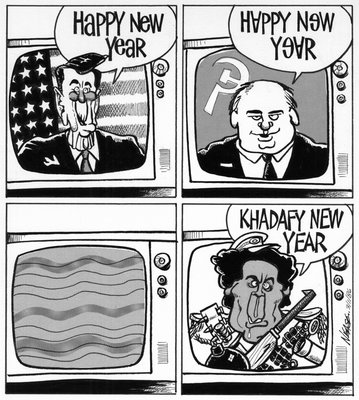 Steve Nease Editorial Cartoons: Khadafy New Year!