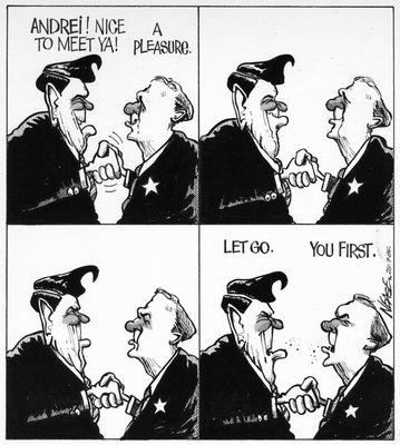 Steve Nease Editorial Cartoons: Let Go. You First