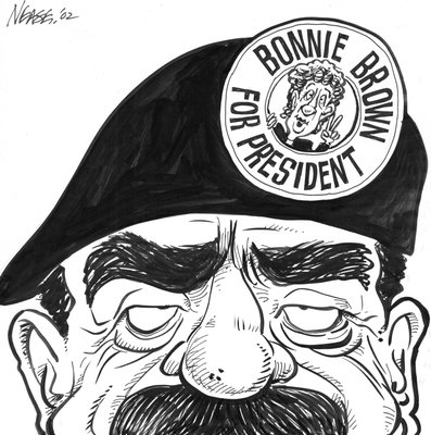 Steve Nease Editorial Cartoons: Bonnie Brown for President