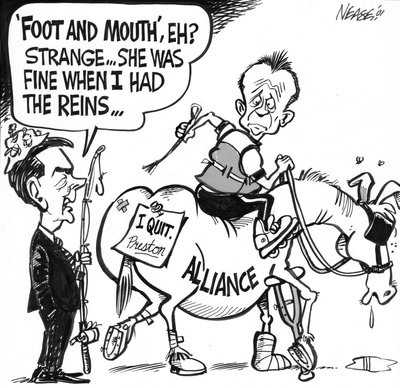 Steve Nease Editorial Cartoons: Foot and Mouth Eh?