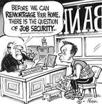 Steve Nease Editorial Cartoons: The Question of Job Security