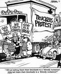 Steve Nease Editorial Cartoons: Truckers' Blockade