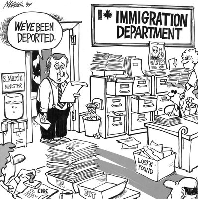 Steve Nease Editorial Cartoons: Marchi's Been Deported