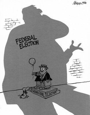 Steve Nease Editorial Cartoons: In the Shadow of the Federal Election