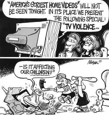 Steve Nease Editorial Cartoons: TV Violence