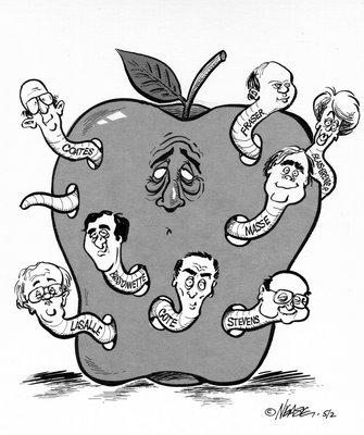 Steve Nease Editorial Cartoons: Rotten Apple