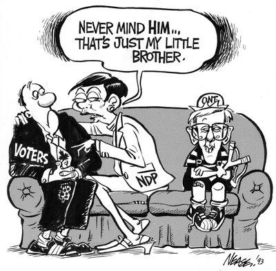 Steve Nease Editorial Cartoons: Audrey's Little Brother