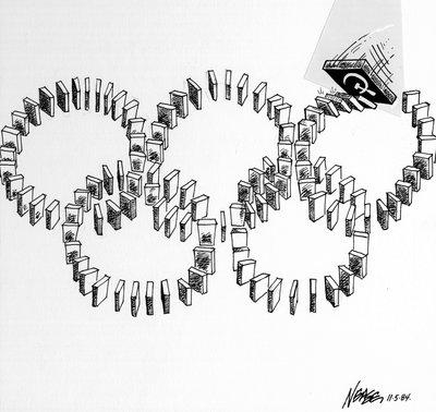 Steve Nease Editorial Cartoons: Cold War Olympics