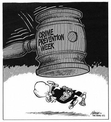 Steve Nease Editorial Cartoons: Crime Prevention Week