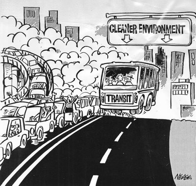 Steve Nease Editorial Cartoons: Road to a Cleaner Environment