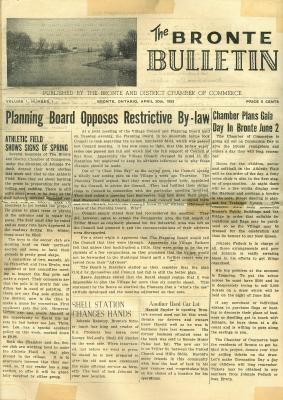 The Bronte Bulletin, April 20th, 1953