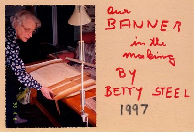 Betty Steel, Bronte Horticultural Society Banner Making (1997)